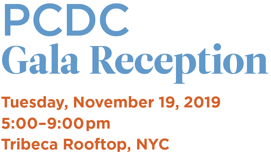 PCDC Gala Reception information